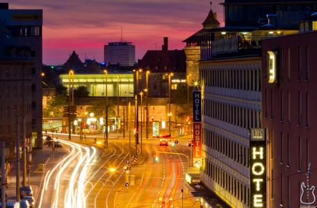 Nürnberg, big city lights