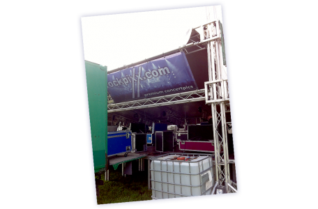 rockpixx-Banner auf dem Wallsbüll Open Air 2013