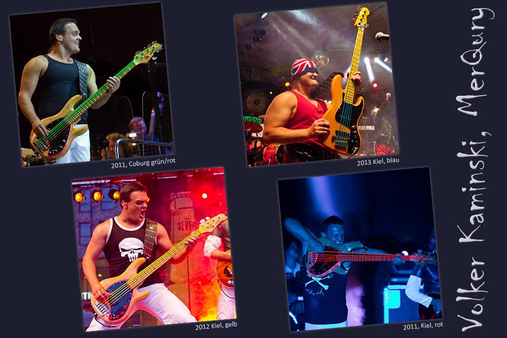Bunte Bass-Saiten (Volker Kaminski, MerQury)